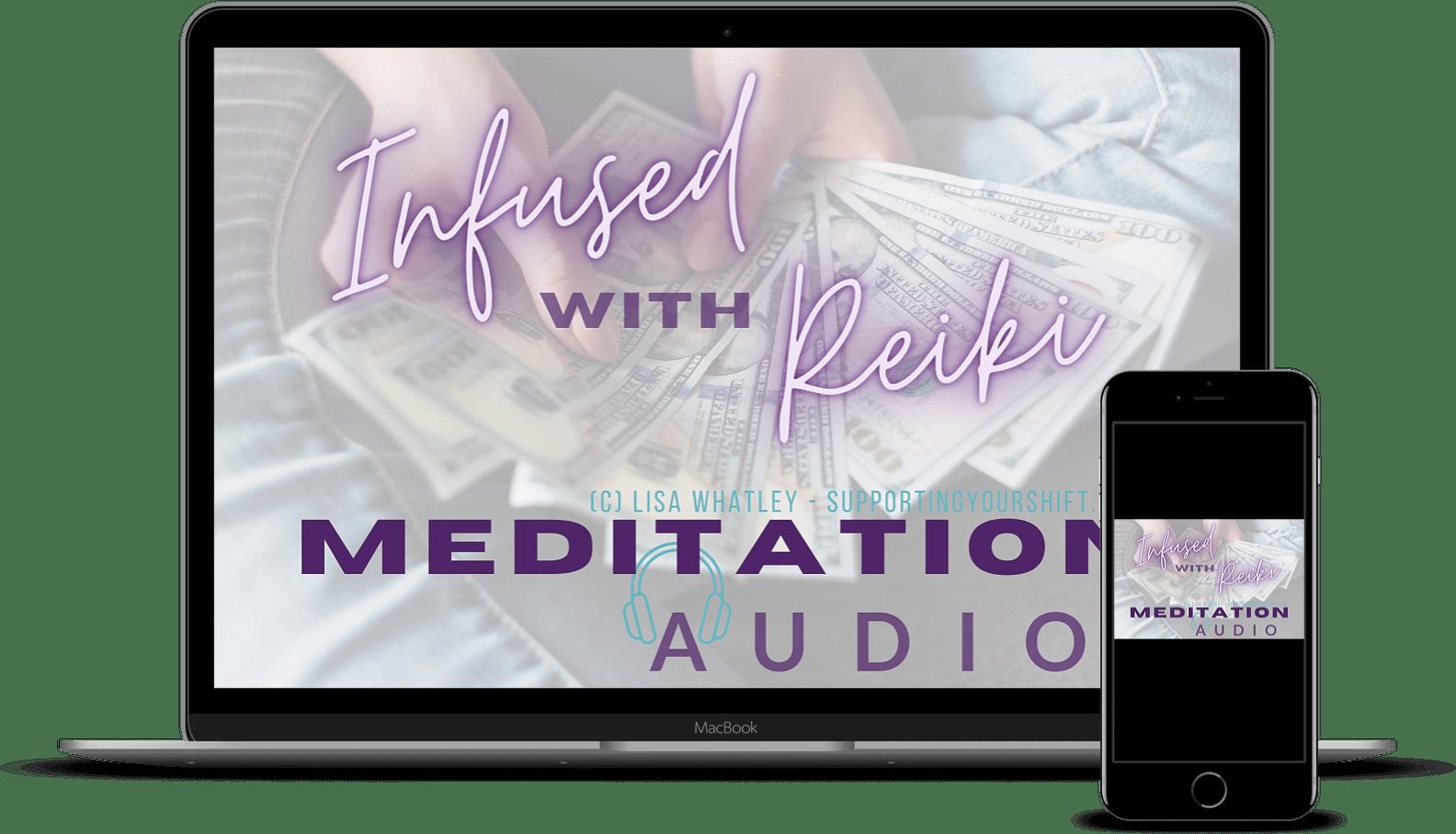 Meditation Audio Laptop and iPhone