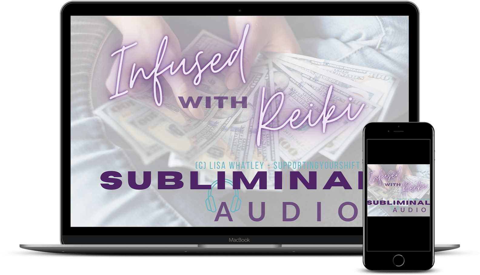 Subliminal Audio Laptop and iPhone