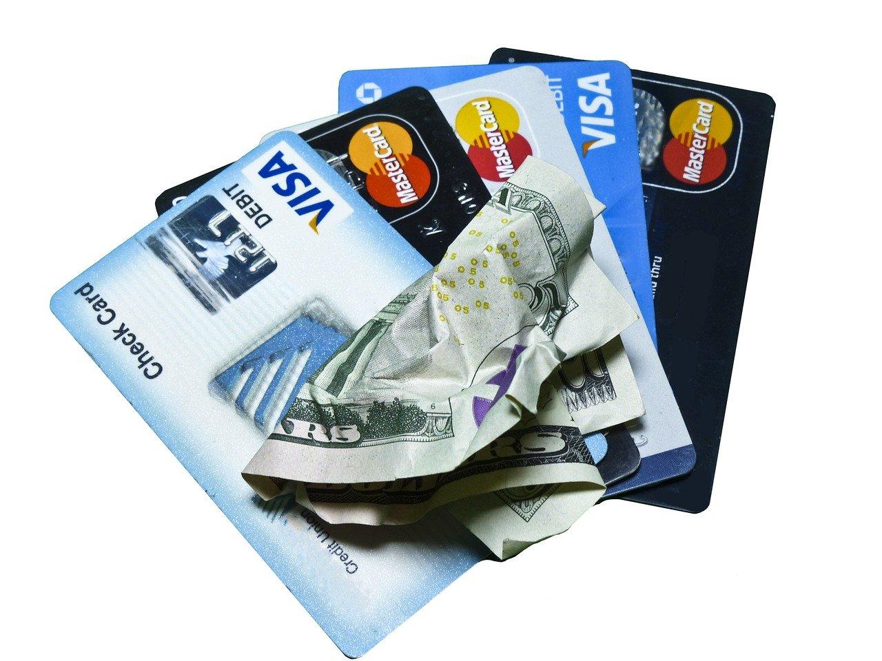 credit card, money, cash